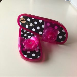 NWT Kate spade jelly slide sandals